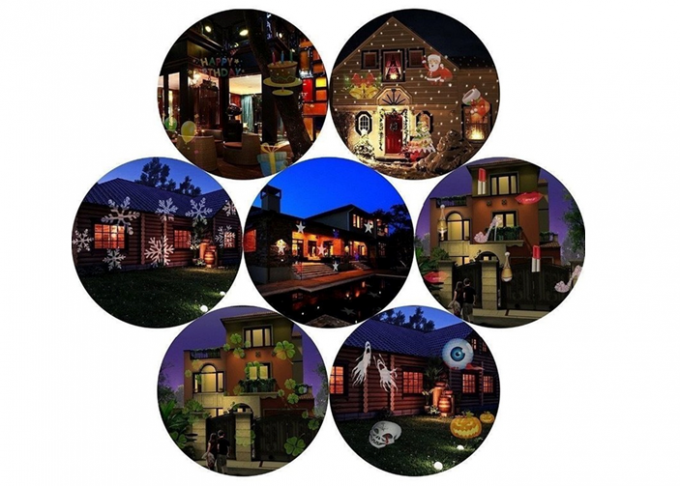 RGB Decorative Laser Christmas Lights , Rotation Outdoor Laser Light Projector