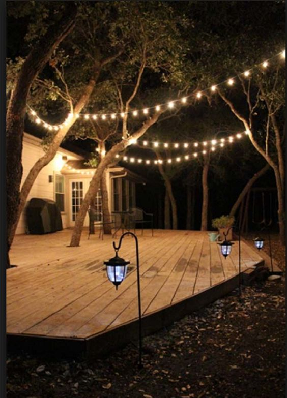 25FT Outdoor Clear Hanging Garden String Light G40 E12 5W Outdoor For Cafe Garden