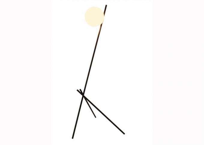 Elegant Floor Standing LED Lights  , G4 LED Glass Ball Floor Lamp For Hotel Or House