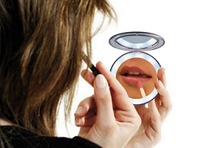 Travel And Home LED Cosmetic Mirror 3 Magnifying / Portable Light Up Mirror