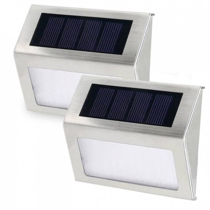 Super Bright Small Solar Wall Lights Outdoor With Motion Sensor Detector / LED Stair Lights