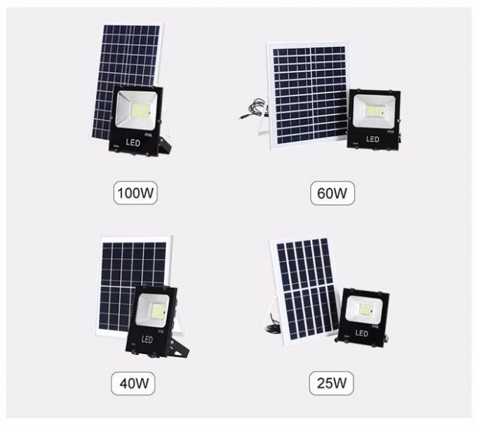 CRI70 Solar Powered Yard Lights / SMD Remote Control 100W Solar Flood Lights