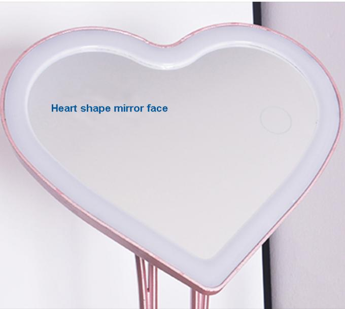 ABS Material Heart Shape LED Lighted Makeup Mirror With Aromatherapy Device