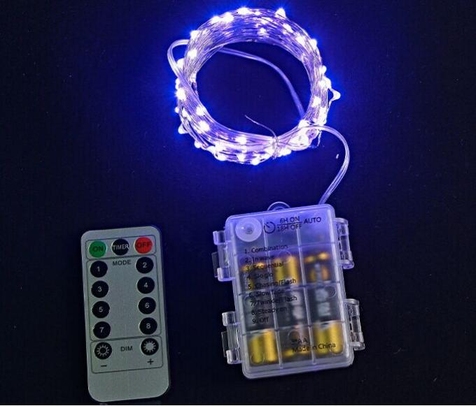 Green 8 Functions Mini LED String Lights With Remote Controller 10 Meters