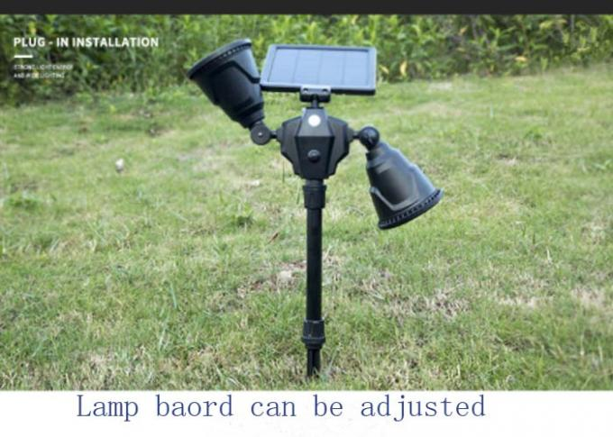 36 Led Outdoor Double Head Human Body Induction Lawn Spotlights / Home Ground Plug Wall Lamp