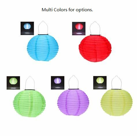 Outdoor / Indoor SO Solar Powered Fabric Lanterns With LED Flickering Flames