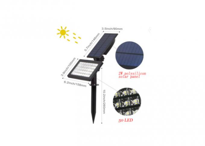 Solar Garden Lamp Solar Ground Lamp Waterproof Ip65 48 Led Solar Lamp Easy To Use Lamp