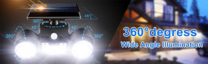 30 LED Rotatable Waterproof Solar Powered Wall LED Lights with Dual Head