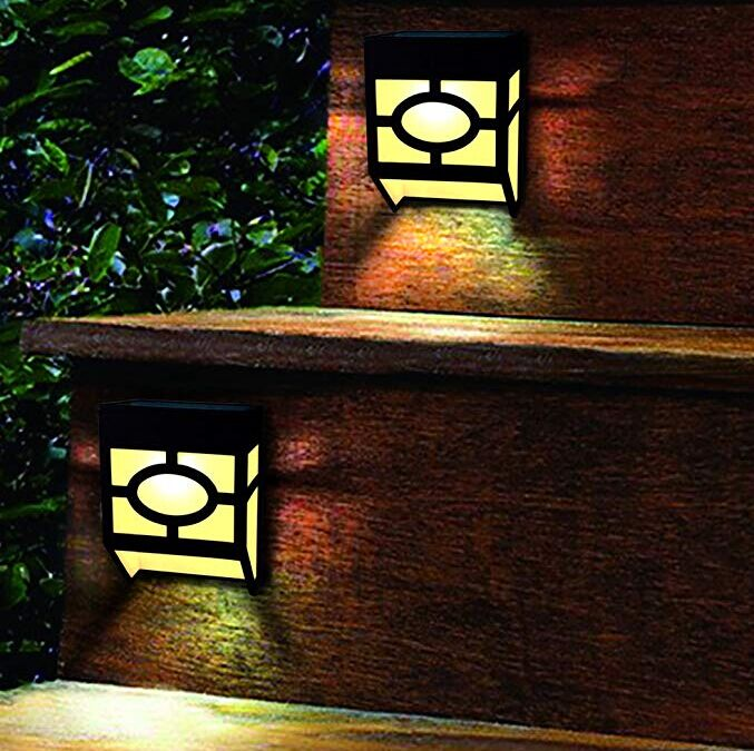 Warm White Solar Outdoor Wall Lights 2 Modes For Front Door , Stair , Landscape
