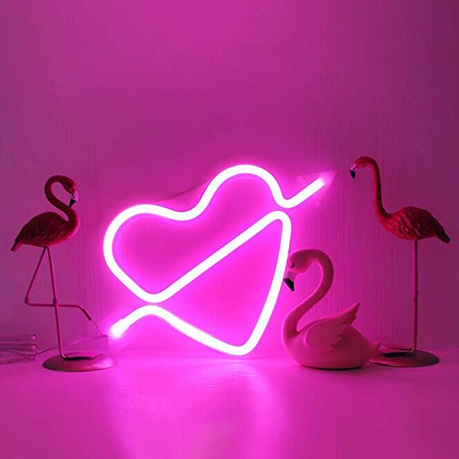 Feeling Love LED Decorative Lights Neon Bar Signs For Valentine 'S Day / Birthday
