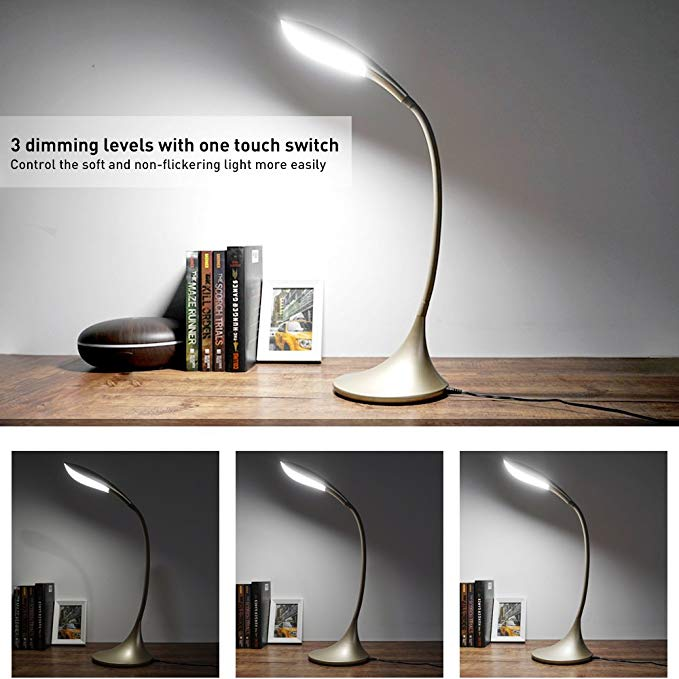 Craft Eye - Care Gooseneck Reading Light With Touch Control Red Dimmable
