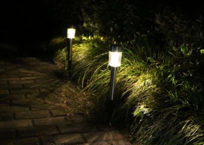 Creative Stainless Steel Solar Lights For Patio Decoration / Outdoor LED Spike Lights