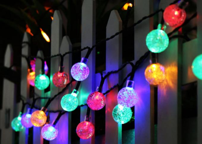30 LED Ball Flashing Lights / Solar Christmas Festival String Lights