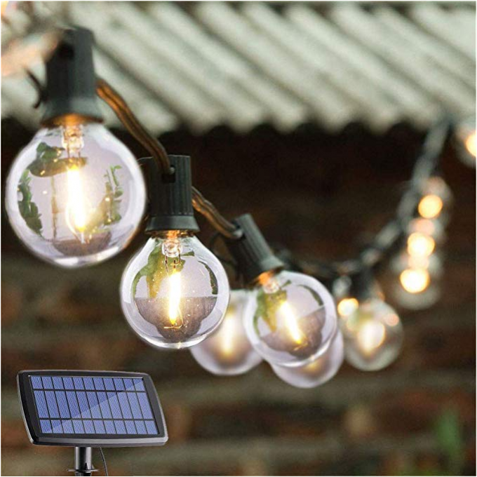 Energy Efficient G40 Globe String Lights / Solar Powered Garden Lights