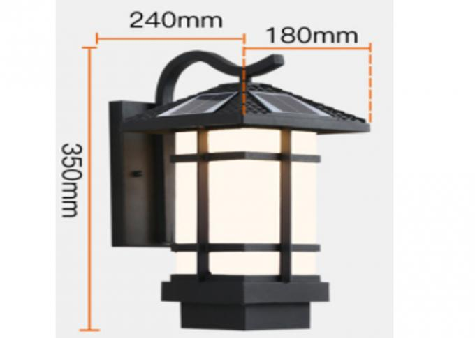 220 V Solar Wall Lights , Solar Porch Lamps Work Time 8 - 10 Hours