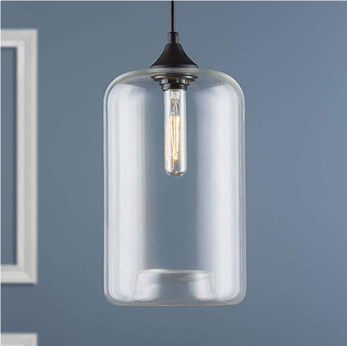 60W E26 Base Clear Globe Pendant Light For Bathroom / Living Room