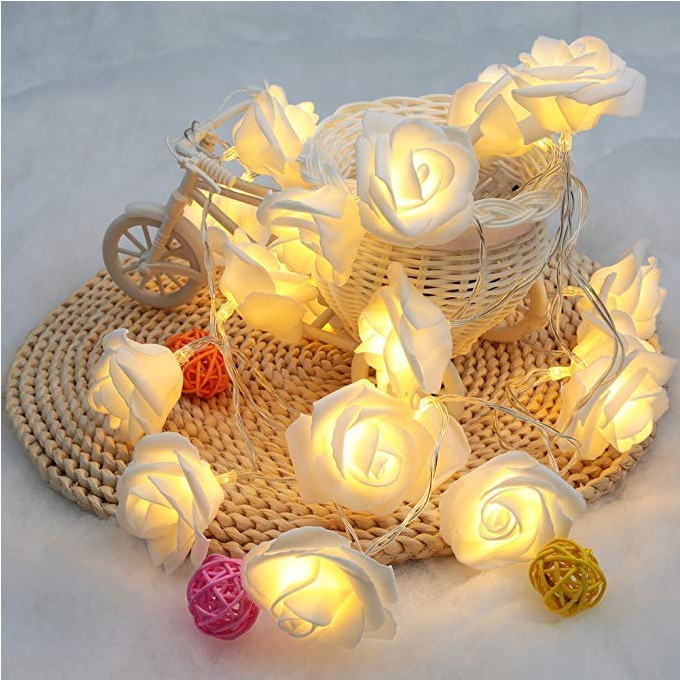 Home Backyard Wedding String Lights Bulb Spacing 3.94 Inches 3AA Battery Case