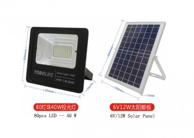 Outdoor IP 67 Solar Floodlight Hainan Areca Garden Is Suitable For High-power Led Anti-theft Lighting
