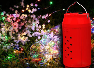 China Christmas Water Powered LED Lights 10 Meters String For Landscape Red Shell supplier