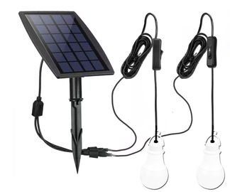China 70LM *2 Solar Powered Yard Lights Low Voltage With 3.7v /2200mah Lithium Battery supplier