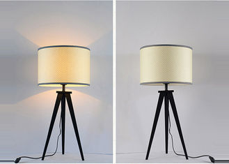 China Simple Study Room Led Bedside Lamp , Creative Personality Iron Black Bracket Tripod Table Lamp supplier