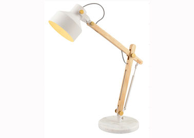 China 90V Wood Adjustable Head LED Table Lamp , Office Study LED Reading Light supplier