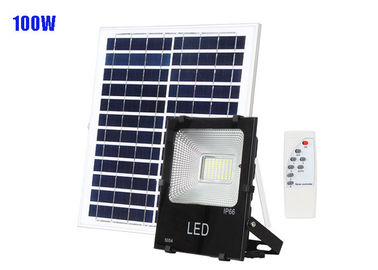 China CRI70 Solar Powered Yard Lights / SMD Remote Control 100W Solar Flood Lights supplier