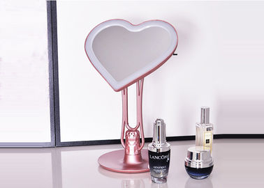 China ABS Material Heart Shape LED Lighted Makeup Mirror With Aromatherapy Device supplier