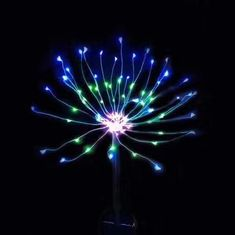 China Yard Pathway Solar Operated Fireworks Lights With 120 LEDs Warm White supplier