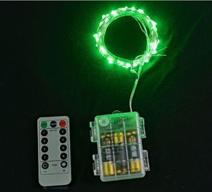 China Green 8 Functions Mini LED String Lights With Remote Controller 10 Meters supplier