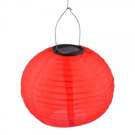 China Outdoor / Indoor SO Solar Powered Fabric Lanterns With LED Flickering Flames supplier