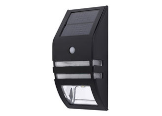 China 6500K Black Solar Sensor Wall Light 500 MAh Battery Discharge Time supplier
