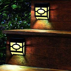 China Warm White Solar Outdoor Wall Lights 2 Modes For Front Door , Stair , Landscape supplier