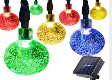 China 30 LED Ball Flashing Lights / Solar Christmas Festival String Lights supplier