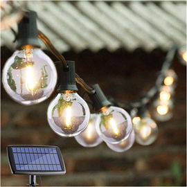 China Energy Efficient G40 Globe String Lights / Solar Powered Garden Lights supplier