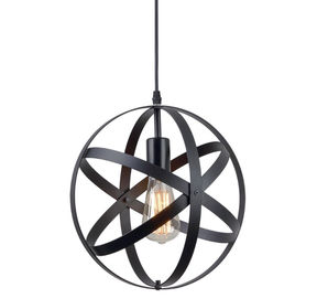 China Industrial Metal Spherical Pendant Light / Rustic Chandelier Vintage Hanging Cage Globe Ceiling Light supplier