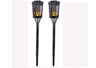 China Solar Torch Flame 99 Led Outdoor Garden Wall Lamp With 3.7v / 2000 MAh Battery supplier