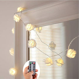 China Home Backyard Wedding String Lights Bulb Spacing 3.94 Inches 3AA Battery Case supplier