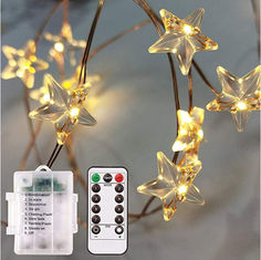 China 14FT Outdoor Rope Twinkling Lights 40 LEDs Battery Operated 8 Modes Remote Dimmer Timer Waterproof for Patriotic day Bed supplier