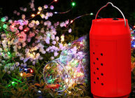 Christmas Water Powered LED Lights 10 Meters String For Landscape Red Shell