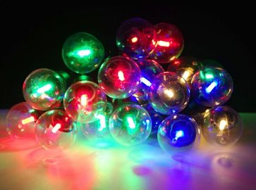 Home Party Commercial Outdoor String Lights 25ct G45 Each Bulb 1 RGB Corn LED Insided