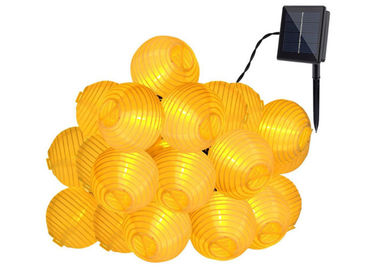 China Yellow 20 LEDs Solar Powered Christmas Lights / Decorative Outdoor Solar Garden Lights factory