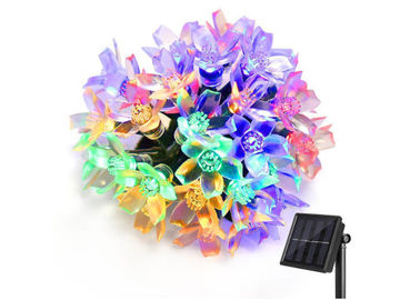 China 21ft Decorative Solar Lights / 50 LED Multi Color Blossom Light For Christmas / Garden / Wedding factory