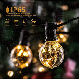 Solar LED Copper Wire Outdoor String Lights Globe G40 Bulbs For Gazebo / Garden / Patio