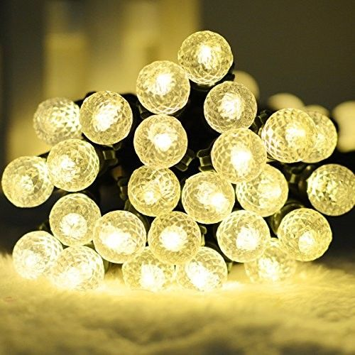"8 Functions BO String Lights, G12 Globe, 75ct Warm White, Lighted Length 296"", Total Length 320"", Timer, Dimming"